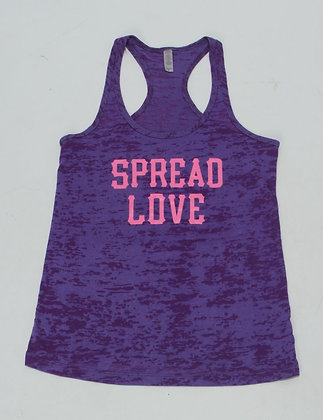 Spread Love Merle Tank Purple W/ Pink