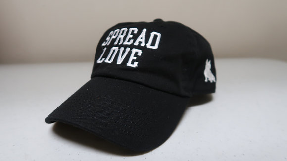 Spread Love Black & White Dad Cap
