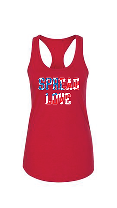 United With Love Racerback Tank