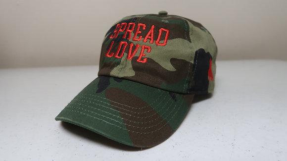 Green Camo & Red Spread Love Dad Cap