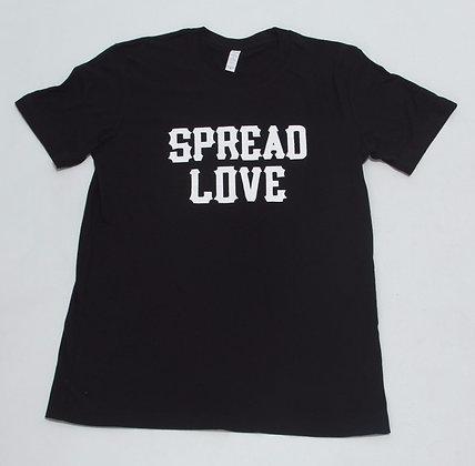Spread Love Crew Neck  Black W/ White
