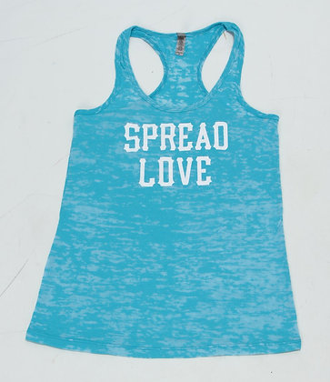Spread Love Merle Tank Aqua W/ White