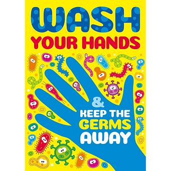 wash yor hands keep the germs away