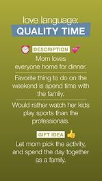 quality time for mom