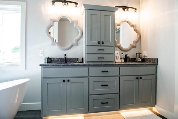 Colored Bathroom Vanity