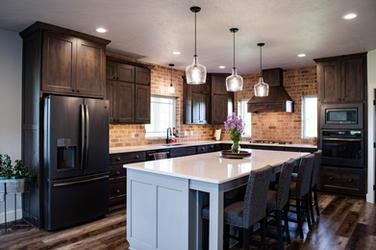Modern Dark Wood Kitchen Cabinets