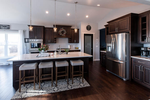 Modern Kitchen With Seated Island