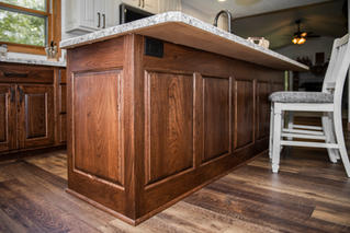 Beautiful Kitchen Island With Electrical Outlet