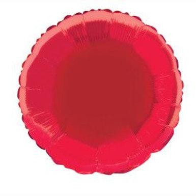 "Balloon Foil 18"" Round Red"