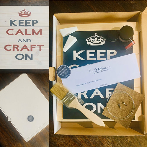 Bastel Box - Keep Calm And Craft On