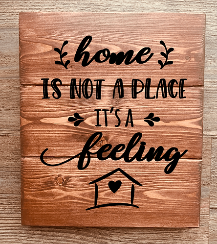 Bastel Box - home is not a place it's a feeling