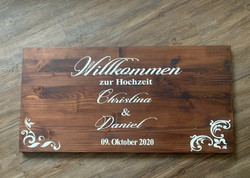 Hochzeit Willkommen / Name & Datum