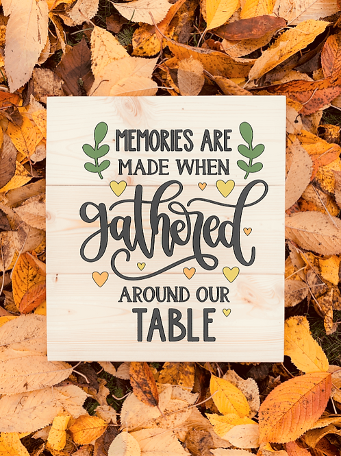 Bastel Box - Fall - Memories are made gathered around our table
