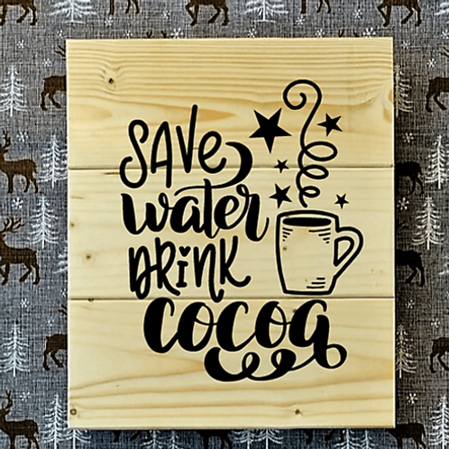 Bastel Box - Christmas - Save Water drink cocoa