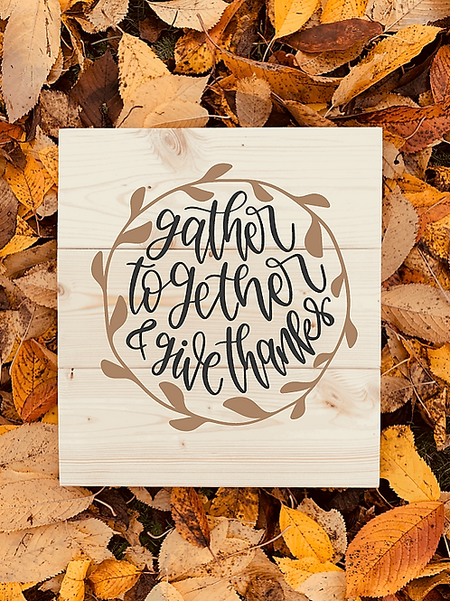 Bastel Box - Fall - gather together & give thanks