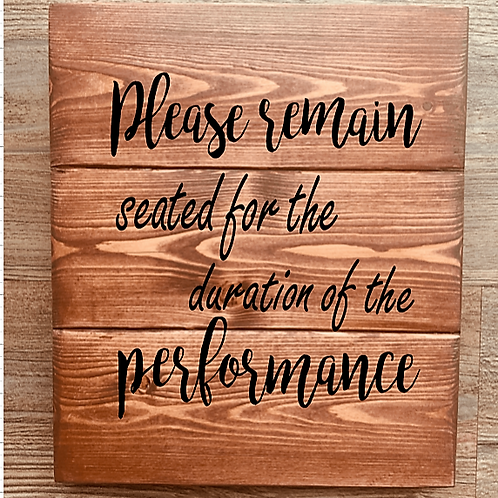 Bastel Box - Please remain seated for the entire duration of the performance