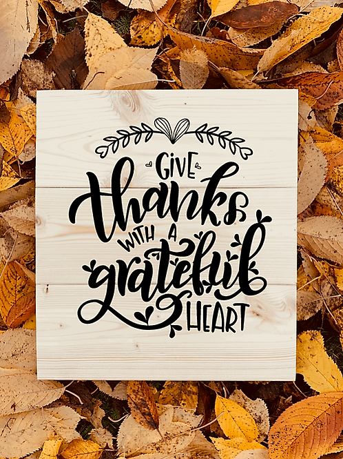 Bastel Box - Fall - Give thanks with a grateful heart