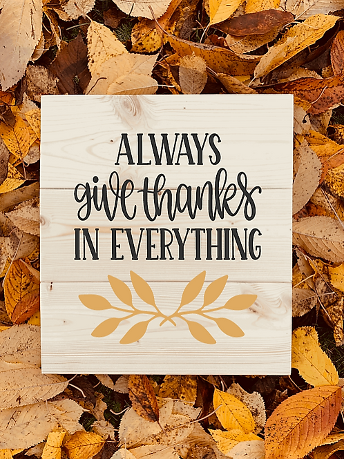 Bastel Box - Fall - Always give thanks in everything