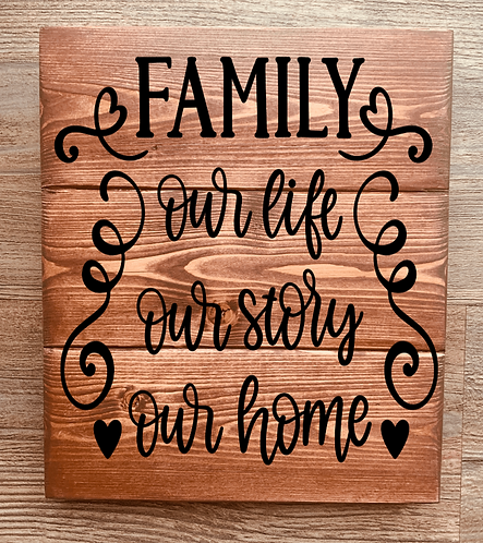 Bastel Box - Family, our life, our story, our home