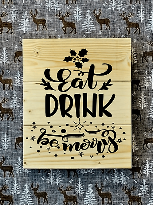 Bastel Box - Christmas - Eat drink be merry