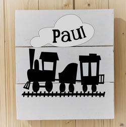 Lokomotive mit Wagen