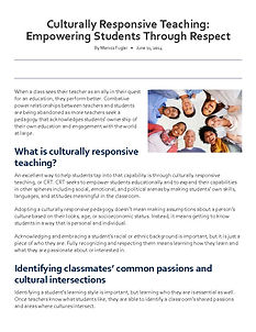 CRT_Empowering Students Through Respect