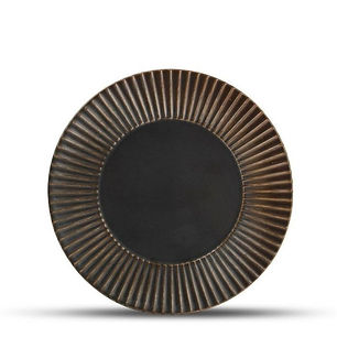 F2D Brass Silver Striped Talerz płaski 2