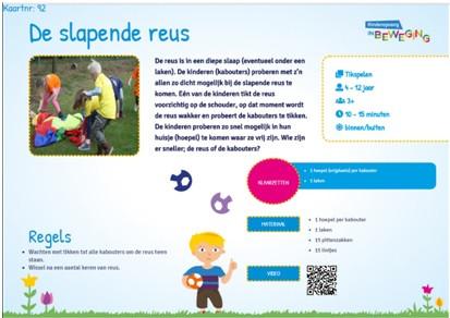 Afbeelding 1. Voorkant activiteitenkaart