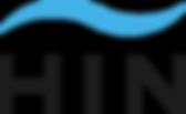 HIN logo Beeldmerk Boven Blauw en zwart