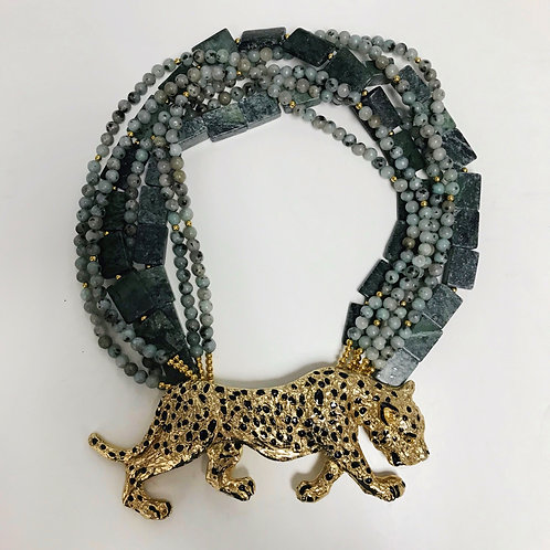 Cheetah Belt Buckle Necklace