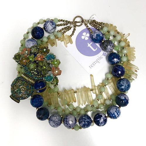 Vintage Flowerpot Necklace