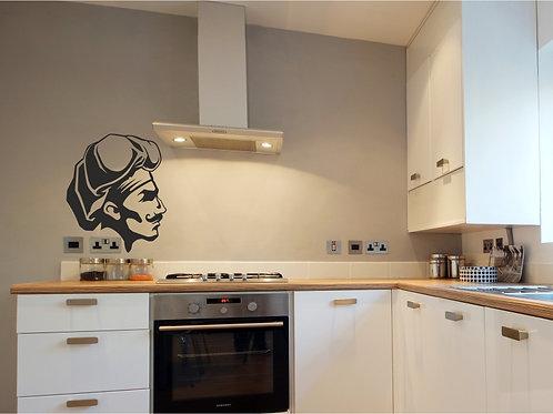 Vinilo decorativo cabeza chef cocina Ref.0008