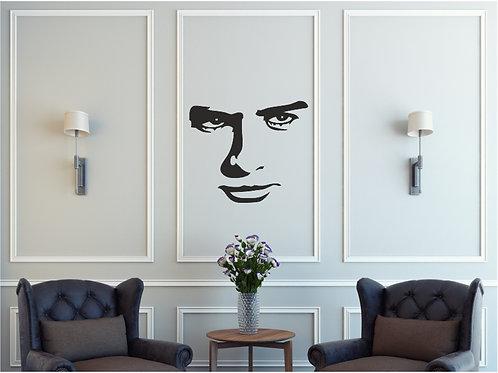 Vinilo decorativo rostro Ref.0004