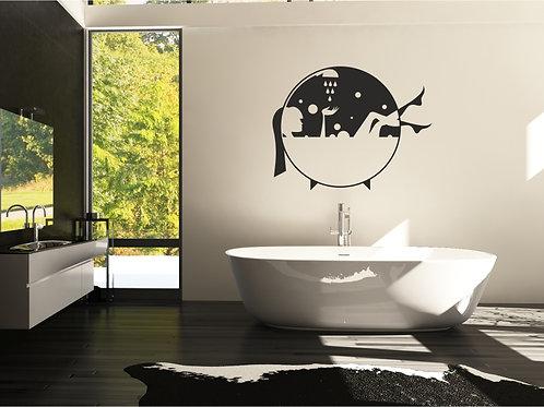 Vinilo decorativo baño Ref.0002
