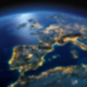 Detailed Earth. Spain And The Mediterranean Sea On A Moonlit Night.jpg