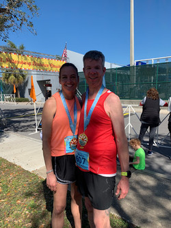 Carol Ann and Lawson knocking Florida off their list of 50 marathons in 50 states!