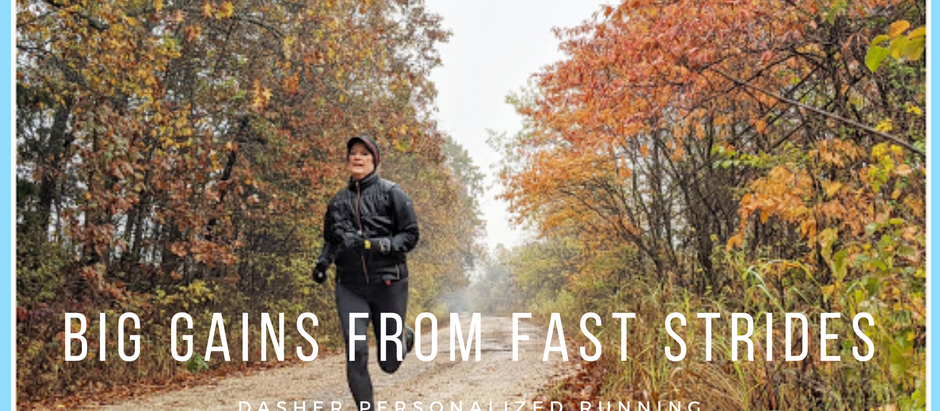 Big gains from fast strides: how to easily enhance any training plan