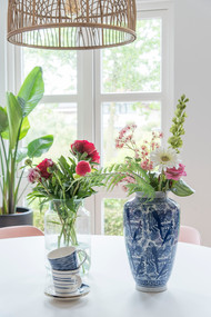 Detail foto eettafel Homestock vaas