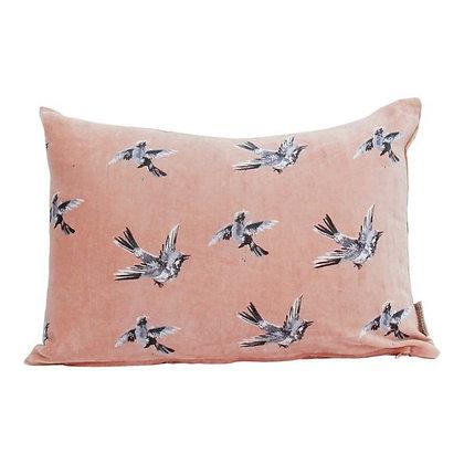 Kussen Vogels roze