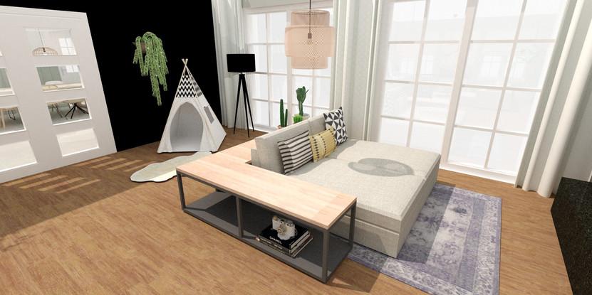 Lounge- en speelhoek