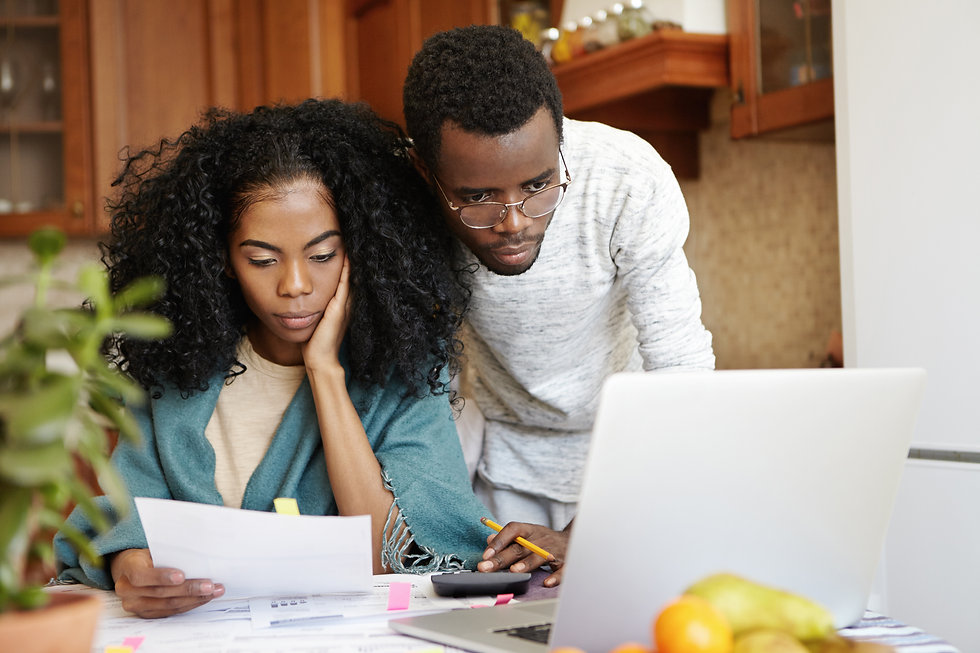 young-african-family-paying-utility-bill