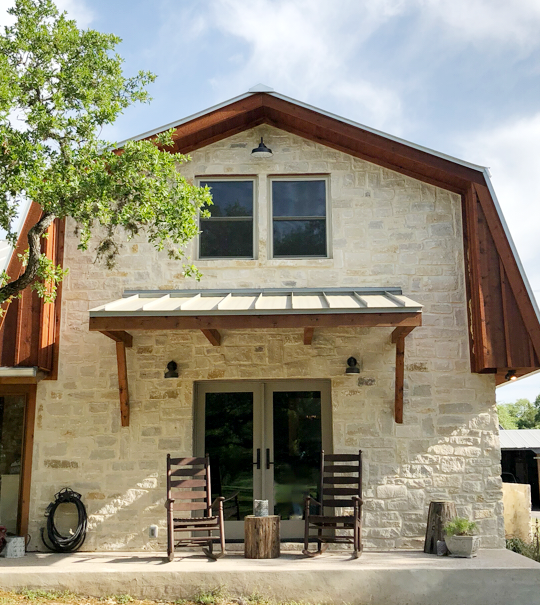 Exterior Makeover:  Replacing Brick with Stone (and a whole lot more!)