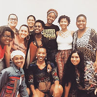 Delmar poses with the first cohort of Birth Justice Doulas they helped to train at Southern Birth Justice Network.