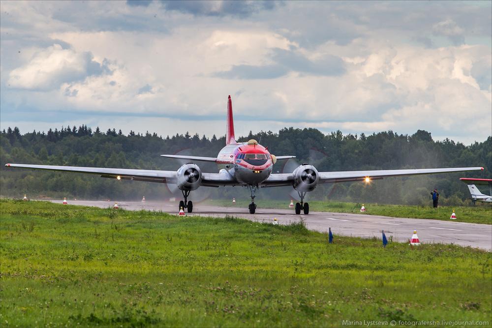На исполнительном старте Ил-14Т