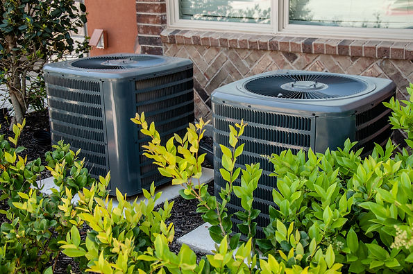 Heating and air conditioning units on th