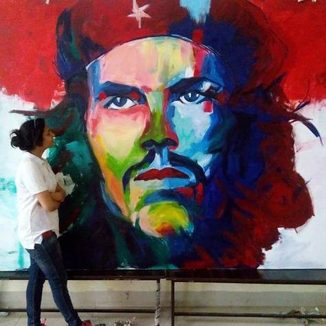 Che Guevera ( 7'x10' Acrylic on Canvas)