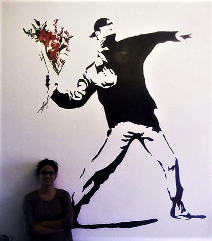 Recreated Banksy's Rage the Flower Thrower