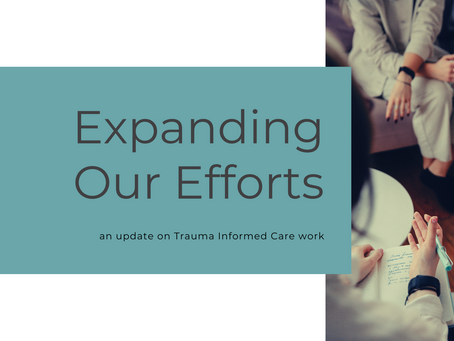Expanding into Trauma Informed Care Training & Awareness: An Update