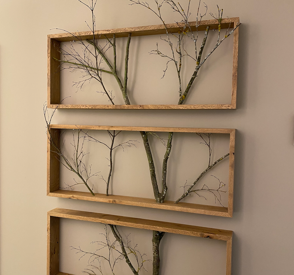 Interior Decor_Beige Wall_Tree in Frame.