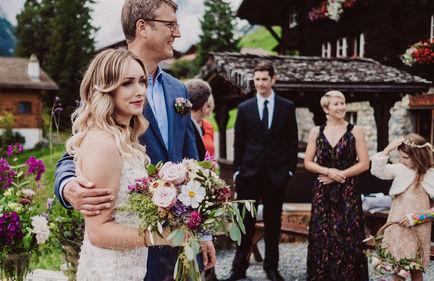 Swiss destination wedding_ceremony flowers